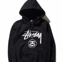Stussy High Quality Couple fashion Hooded Sweatshirt Hoodie Top Shirt Exercise Gym Casyak Sportswear _ 9271