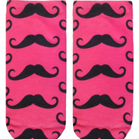 Mustache Ankle Socks