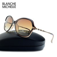 2018 New Fashion High Quality Sunglasses Women Polarized UV400 Sunglass Gradient Lens Butterfly Sun Glasses For Woman With Box