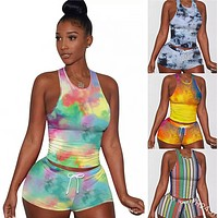 Explosive hot sale vest and shorts two-piece women's clothing