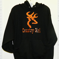 Custom Country Girls Deer Black Hoodie
