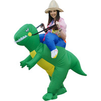 Halloween Costume for Women Inflatable Dinosaur Costume - Fan Operated Adult Kids Size Halloween Cosplay Animal Dino Rider T-Rex