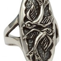 Love Birds Ring by Femme Metale