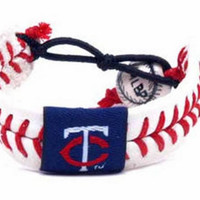 Gamewear MLB Leather Wrist Band - Twins Classic Band