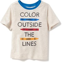 """""""Color Outside the Lines"""" Graphic Tee for Toddler Boys 
