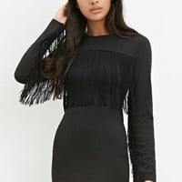 Fringed Bodycon Dress