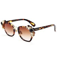 Miu Miu Fashion Women Popular Beautiful Summer Sun Shades Eyeglasses Glasses Sunglasses Leopard Grain Frame I-8090-YJ