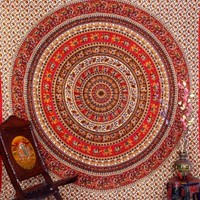 Elephant Mandala Tapestries, Indian Hippie Tapestry Wall Hanging, Indian Bedspread, Bohemian Tapestry, Mandala Dorm Decor By Bhagyoday