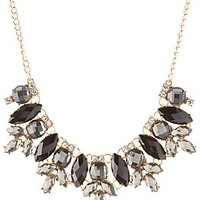 MIXED FACETED STONE BIB NECKLACE