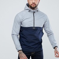 Nicce London Overhead Windbreaker Jacket In Reflective With Navy Panel at asos.com