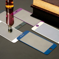 1/pcs Front Premium Plating Mirror Colored Tempered Glass for iphone 4 4s 5 5s 6 6s 4.7 inch Full Screen Protector film