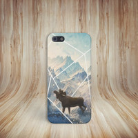 Moose x Mountains x Snow Case for iPhone 5 iPhone 5S iPhone 4 iPhone 4S and Samsung Galaxy S5 S4 & S3