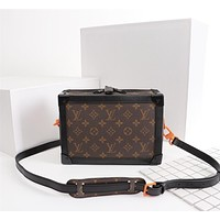 Louis Vuitton LV Fashion women New Monogram Print Leather Handbag Shoulder Bag Women Black