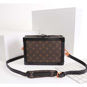 LV Louis Vuitton WOMEN'S MONOGRAM LEATHER CITY TRUNK HANDBAG SHOULDER BAG