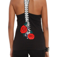 Hell Bunny Spine Rose Tank Top