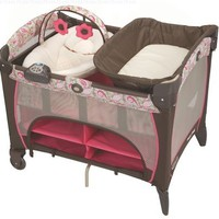 Graco Pack 'n Play Playard with Newborn Napper Station DLX, Jacqueline