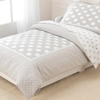 KidKraft Stars and Polka Dots Toddler Bedding in Gray