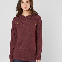 tentree Cowl Neck Hoodie - Women's Sweatshirts in Burgundy | Buckle