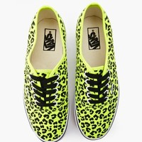 Authentic Sneaker - Neon Yellow Leopard
