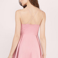Rosé All Day Skater Dress