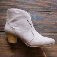 The Oakley Booties In Taupe