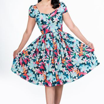 Florence Dress in Hawaiian Plumeria Second
