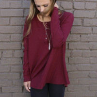 Causal Plain Long Sleeve Blouse