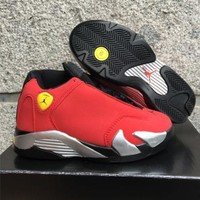 Nike Jordan Kids Air Jordan 14 Retro Red Kids Sneaker Shoe US 11C - 3Y-1