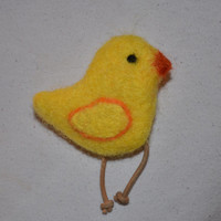 Chick Pin Yellow Whimsical Spring