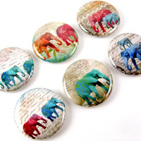 Elephant Magnets: Set of 6