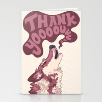 Thank You Wolf Stationery Cards by Lindsey Lea