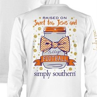 *Closeout* Simply Southern Long Sleeve Tees - Football