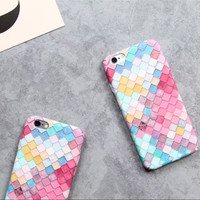 Hard pc phone case For iPhone 7 6 6s 6 plus 6splus 7plus 4.7inch 5.5inch colorful pink city travel cover -0318