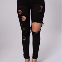 Fashion Casual Jeans for women New Arrival Long Style Large Size  Skinny Women Pants High Waist Package Hip Sexy Wild Pants