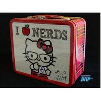 Hello Kitty Nerds (I Love Nerds Tin Lunch or Figurine Box Vintage Retro Style CLASSIC COLLECTABLE [Official Licensed Merchandise]
