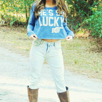 The Lucky One Top: Blue