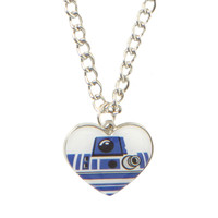 Star Wars R2-D2 Heart Necklace