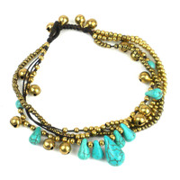 Bohemian Anklet: Turquoise - Thailand