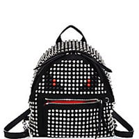 Fendi - Monster Mini Studded Nylon Backpack - Saks Fifth Avenue Mobile