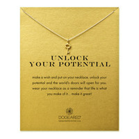 unlock your potential key necklace, sterling silver - Dogeared