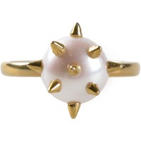 Nektar De Stagni pearl pave spike ring