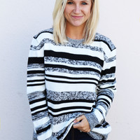 White Stripes Sweater