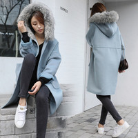 Wool Coat Winter Korean Hats Jacket [8822331532]
