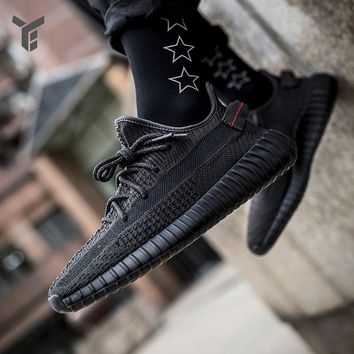 Adidas YEEZY BOOST 350 V2 Black Angel Holds Men and Women's Coconut Running Shoes FU9006
