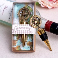 "New Arrival Factory Directly Sale Wedding Favor  ""Our Adventure Begins"" Bottle Stopper New Wedding Gift Birthday Party Favors"