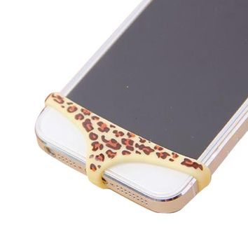 W-RainBow Sexy Underwear Bikini Brief Pattern For Home Button Protector Case for Apple IPhone 4 4S 5 5S(Yellow Leopard)+Gift:Six Pieces Home Button Stickers