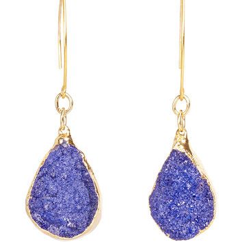 Cristina V Midnight Blue Druzy Drop Earrings