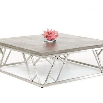 Modrest Scape Modern Concrete Coffee Table