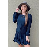 Fall Feelings Dress- Navy