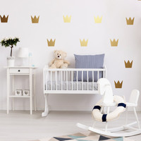 Crown Wall Decals, Wall Stickers, Crown Wall Stickers, Crown Pattern, Crown Vinyl Decal, Nursery Decal, Pattern Wall, Girl Decals, Set of 40